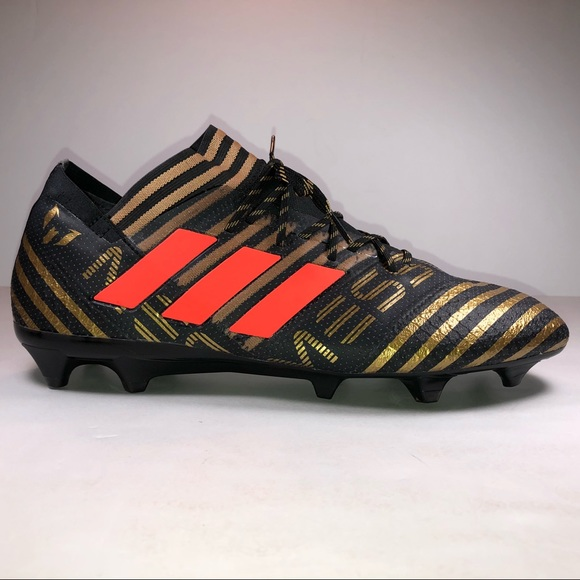 ed7898299 Adidas Nemeziz Messi 17.1 FG Black Soccer Cleats